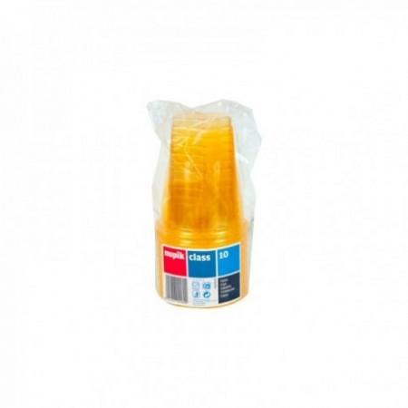 Gobelets plastique couleur Jaune 25 cl