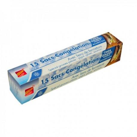 Sac congélation, fermeture par lien - Sous étui imprimé (cm)