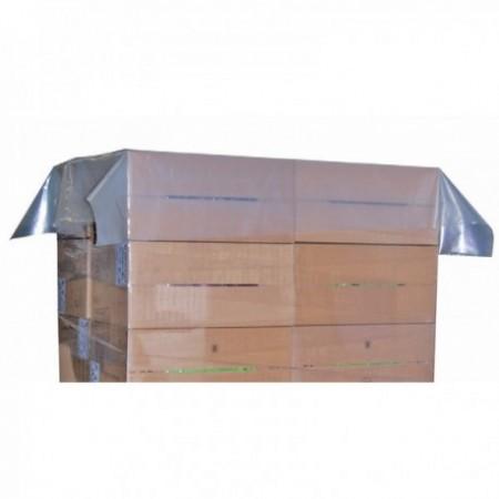 Coiffes palettes PEBD transparent (cm)