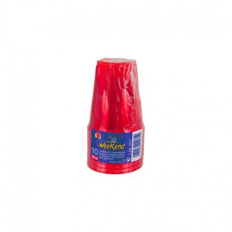 Gobelets plastique couleur Rouge 23 cl