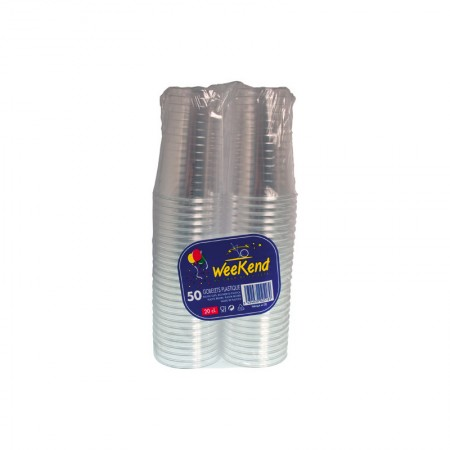 Gobelets plastique transparent 20 cl