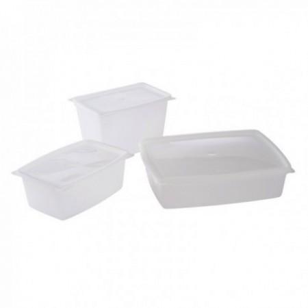 Boîtes PP micro-ondes Elbé - 2 boîtes 1,5 L
