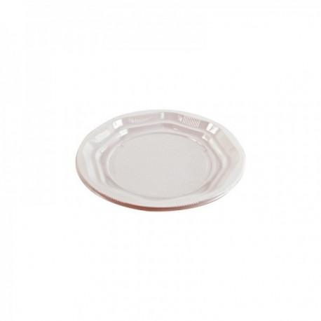 Assiettes blanches Plastique