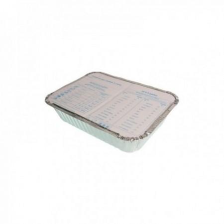 Barquettes aluminium avec couvercle séparé - 1,5L
