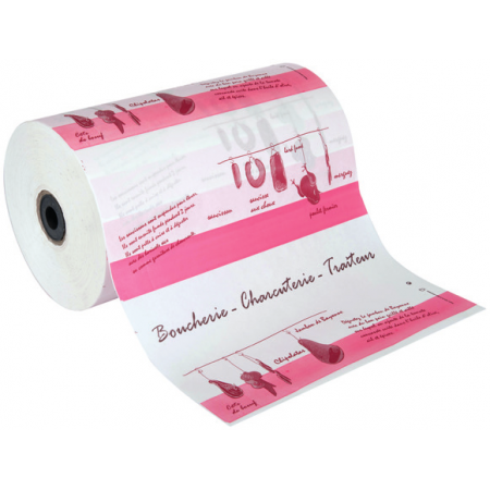 Bobines papier thermoscellable (cm) Imp. 2 coul.