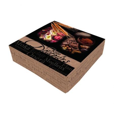Boîtes pâtissières boîte à douceurs - 16 x 16 x 8 cm