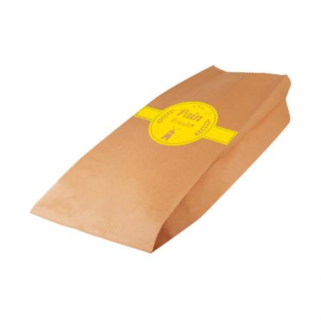 Sac pain tranché kraft brun Jaune