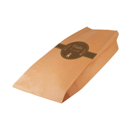 Sac pain tranché kraft brun Marron