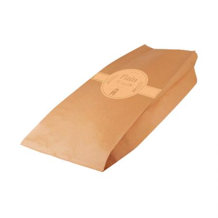 Sac pain tranché kraft brun Beige