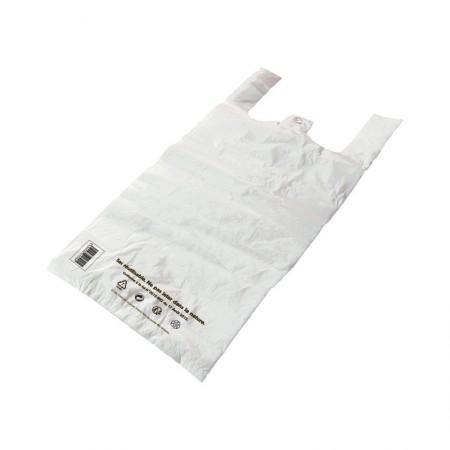Sacs bretelles Caisses réutilisables PEBD (cm) Blanc 6L