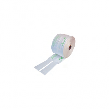 Sacs bretelles à nouer en rouleaux pliés BIO translucides