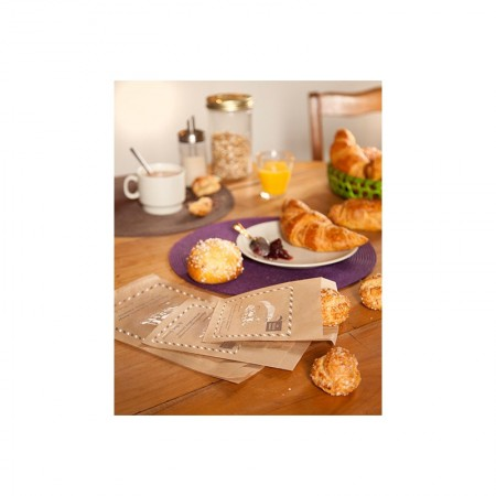 "Sacs ""Les Petits Gourmets"" croissants N°6, 170/35+35x350 mm"