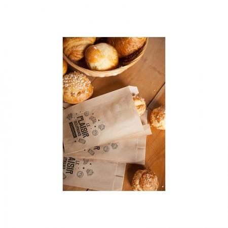 """Sacs """"Le Plaisir Gourmand"""" confiseries N°&, 120/25+25x170 mm"""