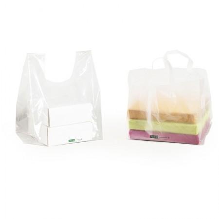Sacs de transport boîtes pâtissières, 360/150+150x300 mm (Fond carré de 300 mm)