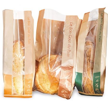 Sacs couleurs pain à fenêtre, 90/32,5+32,5x600 mm