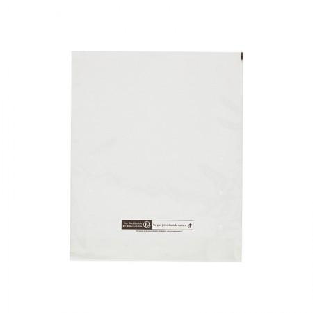 Sacs PP plastique 50µ, 300x360 mm (SF 40+40 mm)
