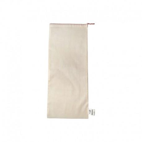 """Sacs bagO """"Coton"""" Coton biologique Naturel, 260x620 mm / Taille L / Cordelette Rouge"""