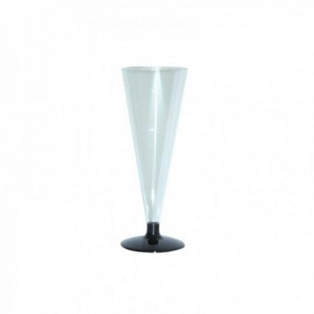 Flûtes plastique transparent 15 cl
