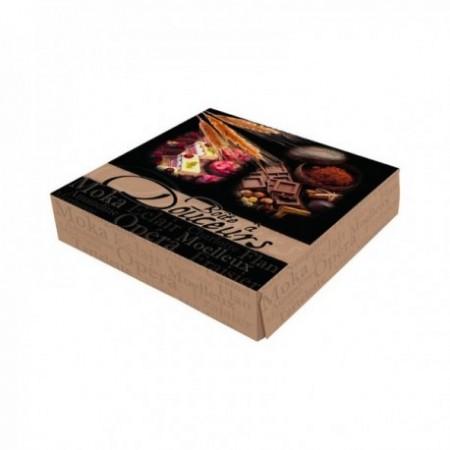 Boîtes pâtissières boîte à douceurs - 20 x 20 x 5 cm
