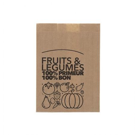 Sacs fruits et légumes traités WS, 140/45+45x200 mm