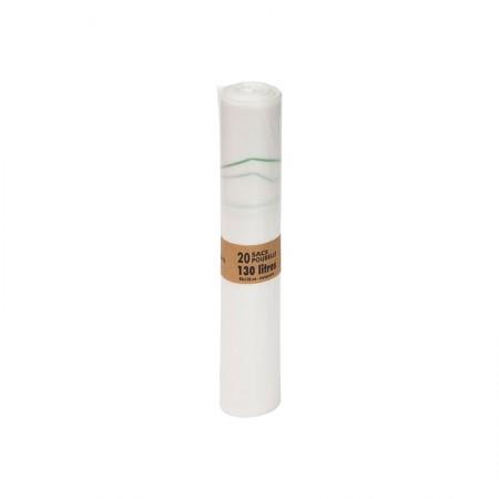 Sacs poubelle BIO, 400/200+200x1 200 mm