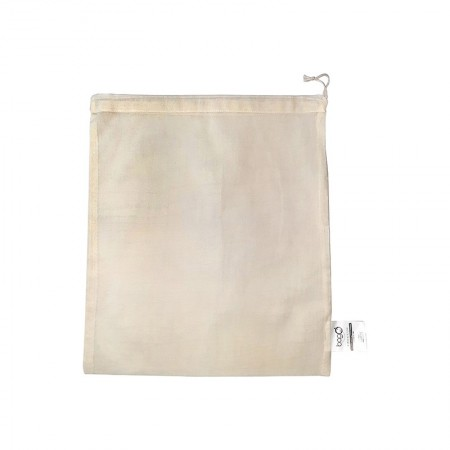 """Sacs bagO """"Coton"""" Coton biologique Naturel, 310x360 mm / Taille M / Cordelette Naturelle"""