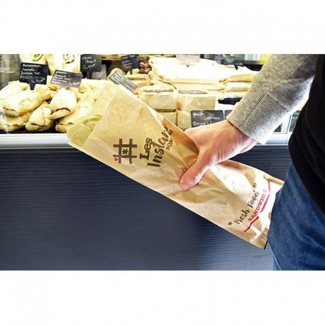 Fresh Food Bag ingraissable, 120/17,5+17,5x350 mm