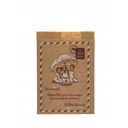 "Sacs ""Les Petits Gourmets"" croissants N°3, 140/35+35x200 mm"