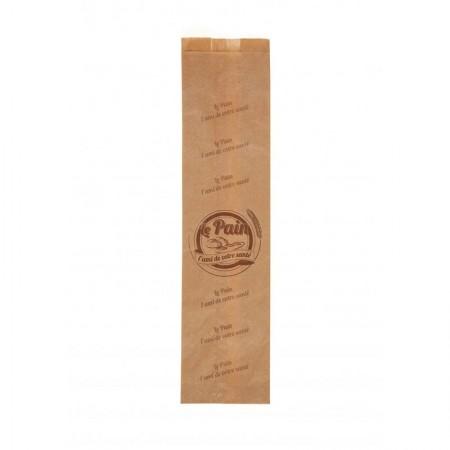 Sacs papier kraft brun, 120/40+40x490 mm