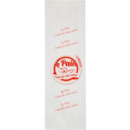 Sacs papier kraft blanc, 190/35+35x610 mm