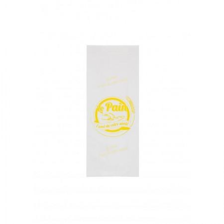 Sacs papier kraft blanc, 140/30+30x350 mm