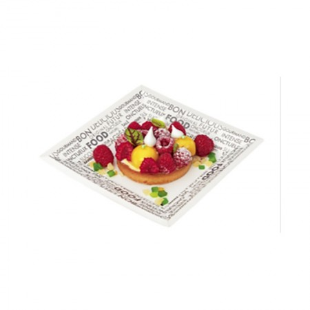 "Assiettes ""Food K"", L. 240 x l. 240 x h. 21 mm"