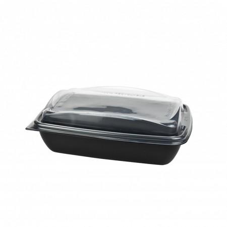 Boite Deliverypack + couvercle translucide - L. 195xl. 146xh. 45 mm