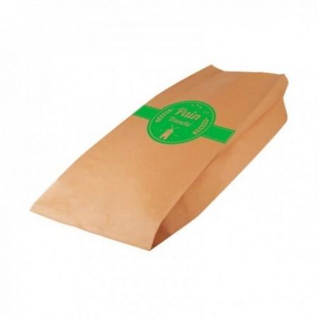 Sac pain tranché kraft brun Vert