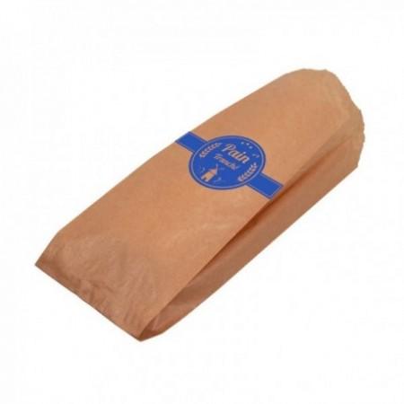 Sac pain tranché kraft brun Bleu