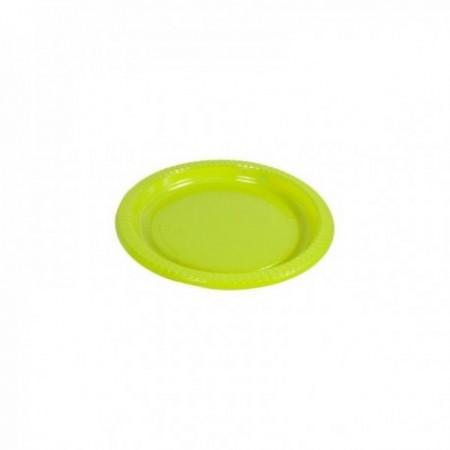 Assiettes couleurs plastique Vert anis