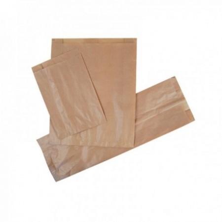Sacs kraft brun, emballés sous film