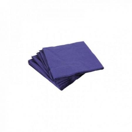 Serviettes papier couleurs 40 x 40 cm Bleu marine