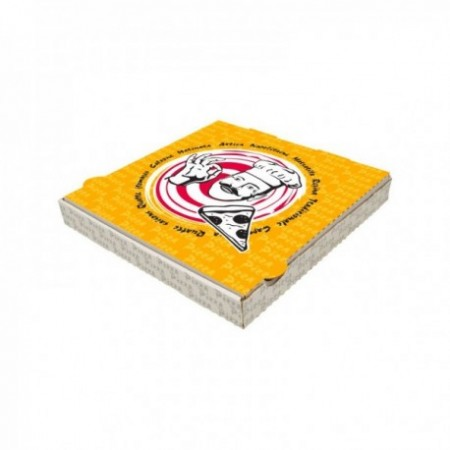 "Boîtes pizza kraft blanc Pep's ht 3,5 cm"" """