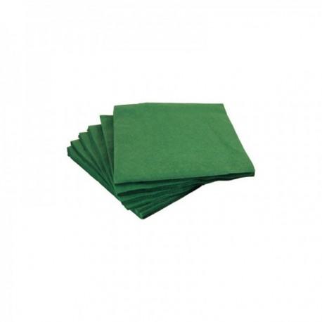 Serviettes papier couleurs 40 x 40 cm Vert foncé