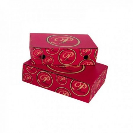 Boîtes calzone kraft brun - Impression 2 couleurs (cm)