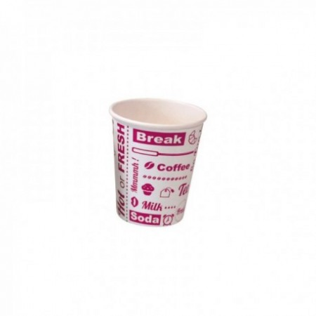 Gobelets carton Hot or Fresh - fibres vierges Blanc/Rose 30 cl