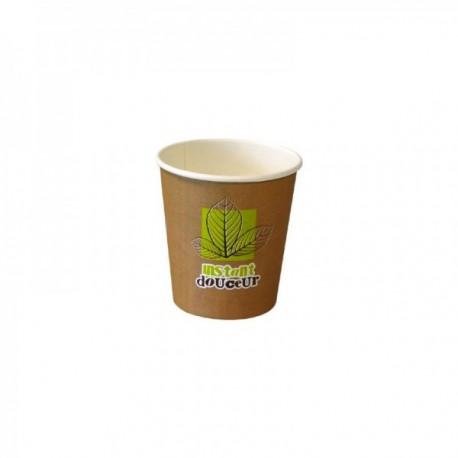 Gobelets carton Instant Douceur - fibres vierges Brun/Noir/Vert 25 cl