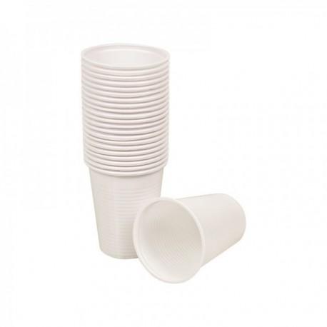 Gobelets plastique blanc