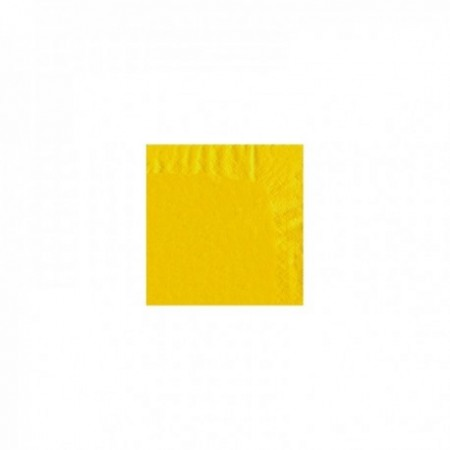 Serviettes papier couleurs 40 x 40 cm Jaune