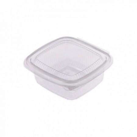 Boîtes à couv. attenant PET - Utilisation froide (mm) Transparent 375 cc