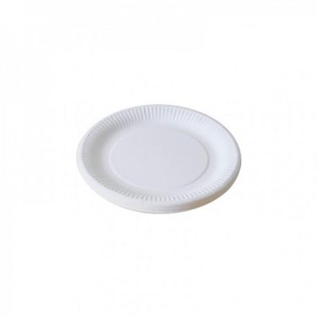 Assiettes blanches Carton