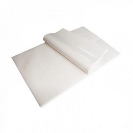 Feuilles papier kraft blanc enduit 1 face liassées