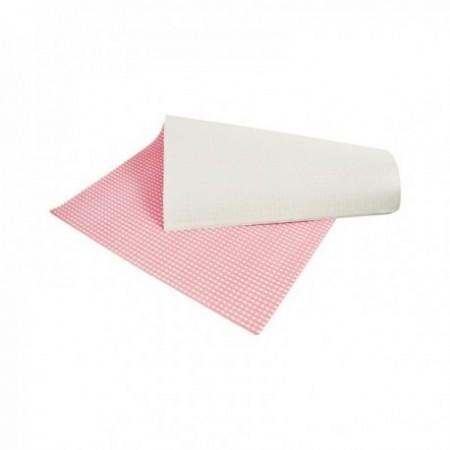 Feuilles papier duplex - Impression fond Vichy rose (cm)
