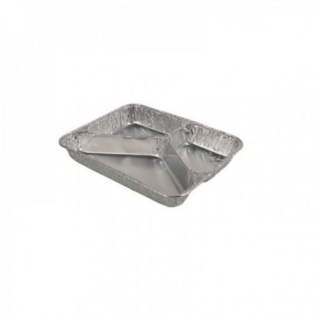 Plats aluminium à compartiments (mm) 800 cc